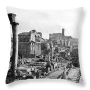 Roman Colosseum - Italy -  C 1906 Throw Pillow