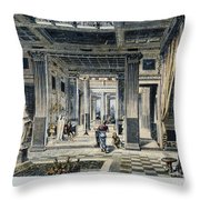 Roman House Interior Throw Pillow