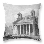 Roman Pantheon, 1833 Throw Pillow