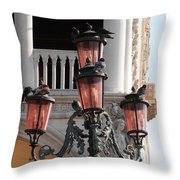 Roman Pigeons Throw Pillow