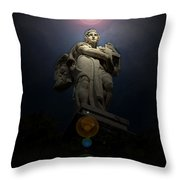 Roman Statue 2 Roman Italy Throw Pillow