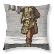 Roman Trumpet, 1723 Throw Pillow