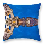 Romano Spaceship - Archifou 73 Throw Pillow