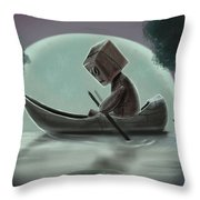 Romantic Boat Ride For One Throw Pillow