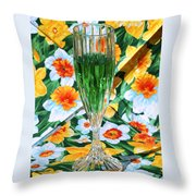 Romantic Emerald Throw Pillow
