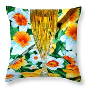 Romantic Gold Throw Pillow