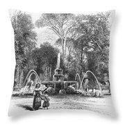 Rome: Borghese Gardens Throw Pillow