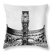 Rome: Colosseum, 1685 Throw Pillow
