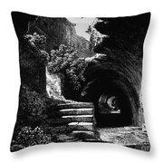 Rome: Colosseum, 1840 Throw Pillow