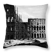 Rome: Colosseum, C1864 Throw Pillow