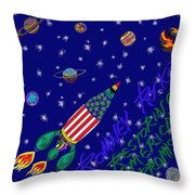 Romney Rocket - Restoring America's Promise Throw Pillow