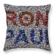 Ron Paul Button Mosaic Throw Pillow