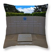 Ronald Reagan Memorial Throw Pillow