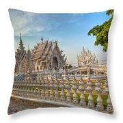 Rong Khun Temple Throw Pillow