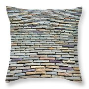 Roof Tiles Throw Pillow