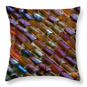 Roof Tiles Throw Pillow