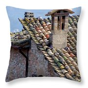 Rooftop Tiles In Italy Throw Pillow