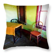 Room With Red Chair Throw Pillow