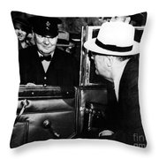 Roosevelt & Churchill, 1944 Throw Pillow