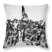 Roosevelt & Rough Riders Throw Pillow