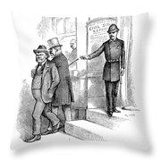 Roosevelt Cartoon, 1884 Throw Pillow