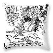 Roosevelt Cartoon, 1902 Throw Pillow