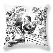 Roosevelt Cartoon, 1934 Throw Pillow