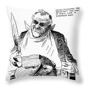Roosevelt Cartoon, 1938 Throw Pillow