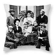 Roosevelt Family 1878 Throw Pillow