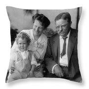 Roosevelt Family, 1915 Throw Pillow