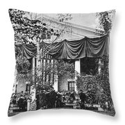 Roosevelt: Oath Of Office Throw Pillow by Granger
