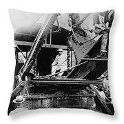 Roosevelt, Panama Canal Construction Throw Pillow