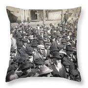 Roosevelt Speech, 1905 Throw Pillow