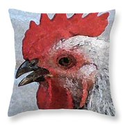 Rooster No. 2 Throw Pillow