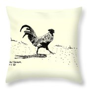 Rooster's Stride Throw Pillow
