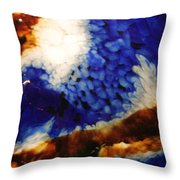 Rootbeer Sky Throw Pillow