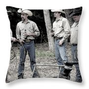 Ropers Throw Pillow
