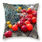 Ropes And Buoys Throw Pillow