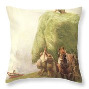 Roping The Wagon Throw Pillow