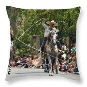 Roping Vaquero Throw Pillow