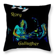 Rory And The Aliens Throw Pillow