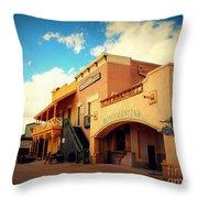 Rosas Cantina In Old Tuscon Az Throw Pillow