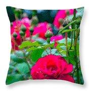 Rose 132 Throw Pillow