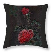 Rose 85 Throw Pillow