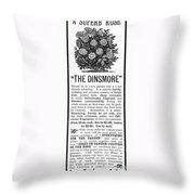 Rose Advertisement, 1890 Throw Pillow