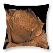 Rose Art  Sepia Throw Pillow