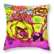 Rose Boquet Art Throw Pillow