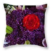 Rose Center Of Attention Throw Pillow