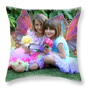 Rose Faeries Throw Pillow