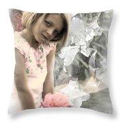 Rose Faery Throw Pillow